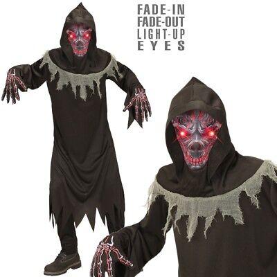 Dämon Geist Teufel mit leuchtenden Augen Gr.128 Kinder Kostüm Tod Halloween #876 (Geist Kostüm Augen)