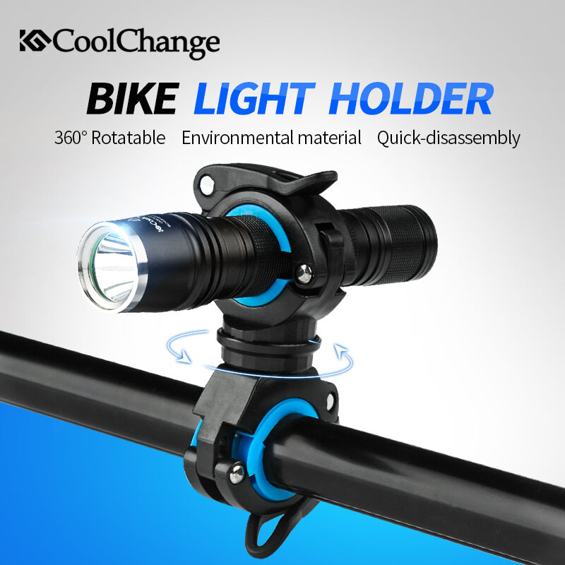 Bicycle Cycling Flashlight Torch Mount LED Light Holder Clamp Clip 360° Rotation
