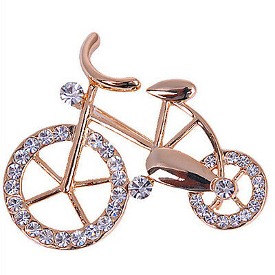 (Lovely Brooch Pin Fashion Bike Buckle Bicycle Pectoral Flower Brooches TSCA)