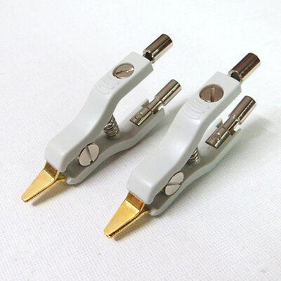 2pcs Kelvin Test Clip Copper Gwinstek Lcr Bridge Test Clip Microresistivity Clip