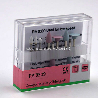 Ra0309 Dental Resin Composite Polishing Kit For Low-speed Handpiece Contra Angle