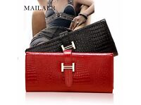 MAILAER crocodile leather large capacity purse