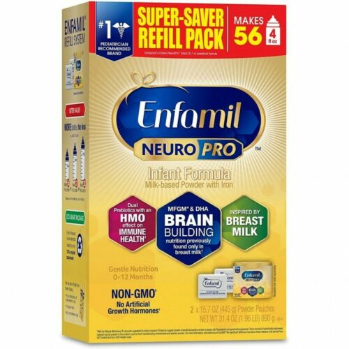 Enfamil NeuroPro Infant Formula Powder With MFGM - 31.4oz ( 3 Pack) EXP 01/2022