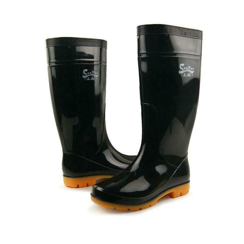 Mens Casual Rainboots Waterproof Slip On Fishmens sneaker Shoes Plus Size