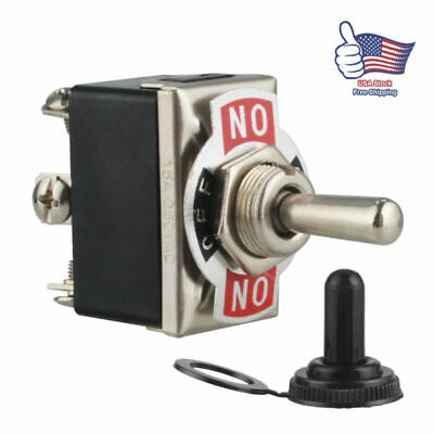 Heavy Duty 3pin Toggle On-off-on Switch Momentary 20a 250v Spst Boat Racecar Car