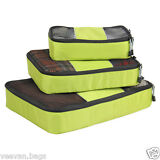 3pcs Travel Luggage Organizer Packing Clothes Storage Bags Cube Bag Storage