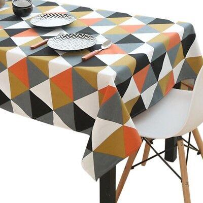 Geometric Printed Modern Tablecloth Camping Picnic Mat Dining Room Table - Picnic Table Tablecloth