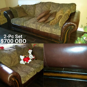 Couch and Love Seat Set Strathcona County Edmonton Area image 1