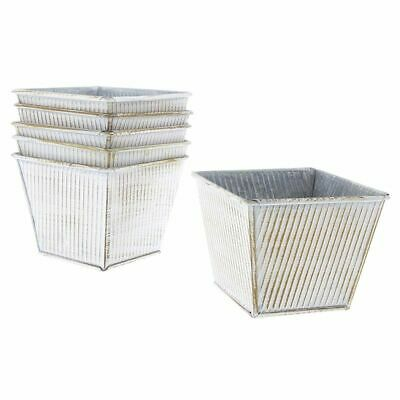 Small Metal Buckets (6PCS Small Metal Flower Pot Square Bucket Set Home, Garden, Patio)