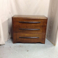 307: Solid Wood Waterfall Three Drawer Chest of Drawers $165