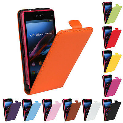 Best Used Nice For Sony Xperia Z1 Mini Best Genuine Leather Case Open Up