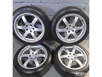 """18"""" Genuine Rays Engineering Forged 350Z Alloy Wheels & Four Tyres"""