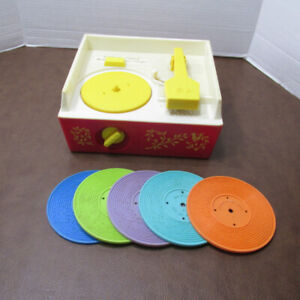 FISHER PRICE #995 TOURNE DISQUE MUSIC BOX RECORD PLAYER VINTAGE