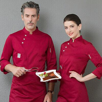 Herren Damen Kochjacke Lange Ärmel Bäcker Kochhemd Bäckerjacke Kochbekleidung (Koch-hemd)
