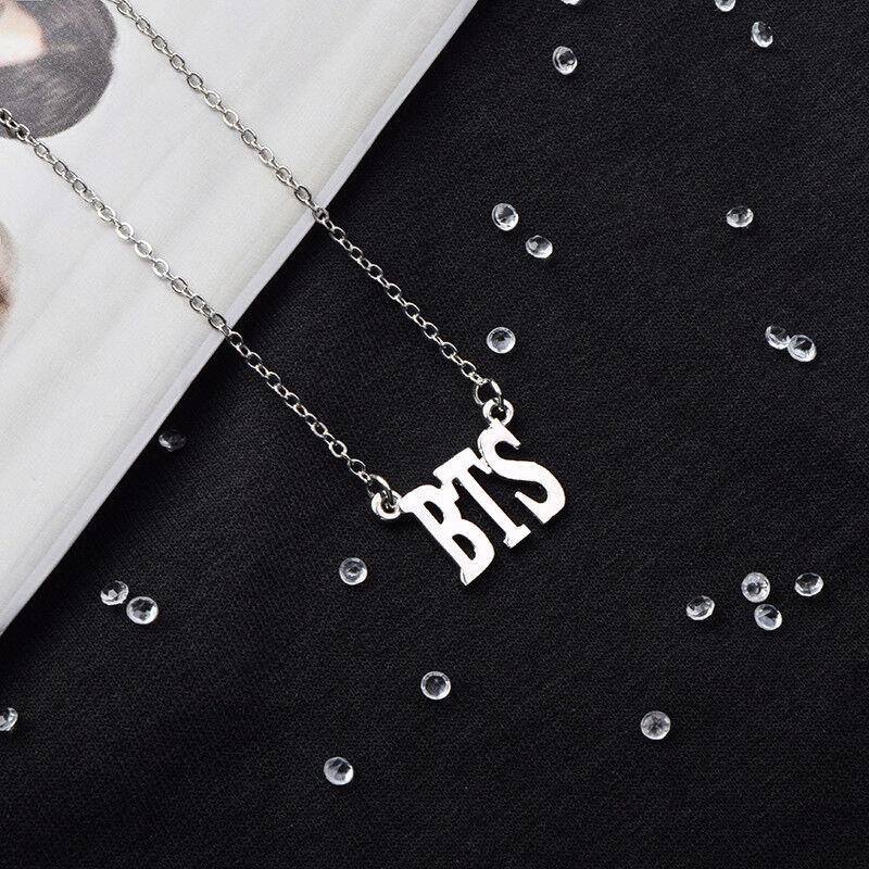 KPOP BTS Necklace Bangtan Boys Jimin JIN J-Hope Suga Steel Pendant Chain Wings