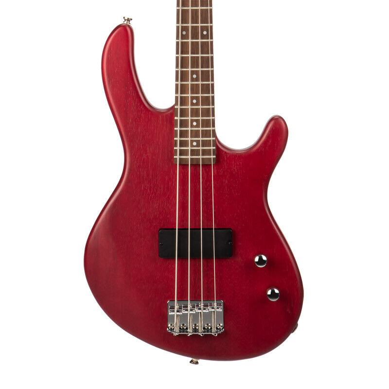 Cort Action Junior Bass Guitar, Open Pore Black Cherry (NEW)