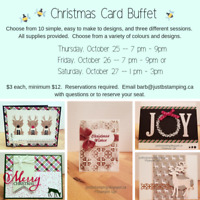 Christmas Card Buffet (Stampin' Up)