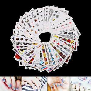 48sheets nail art water decals skull halloween manicure transfer stickers lWTUS