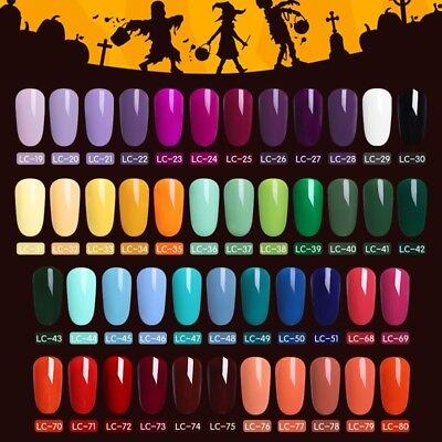 LILYCUTE Gel Halloween Party UV LED Lamp Nail Art Soak Off Gel Nail Polish 8m (Uv Halloween)