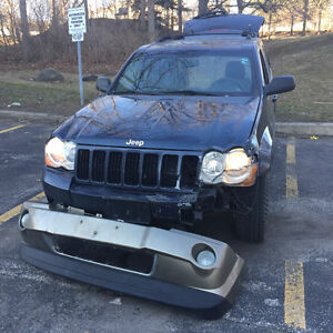 2008 Jeep Cherokee 3.0 diesel Clean title easy fix all Hwy km