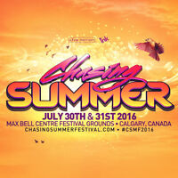 x2 CHASING SUMMER: General Admission 2 Day passes. (for Calgary)