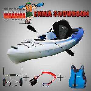 Sit in Kayak PACKAGE Trolley Life Jacket Touring Sea ALL ROUNDER Erina Gosford Area Preview