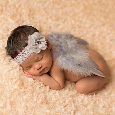 Newborn Baby Girls Boys Angel Wings Leaf Costume Photo Photography Prop Outfits](Baby Angel Costume)