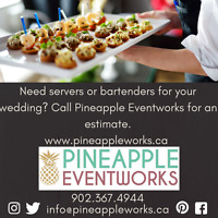 Need Servers or Bartenders to work your wedding?