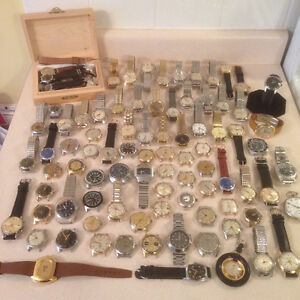 VINTAGE WRIST WATCHES AND POCKET WATCHES