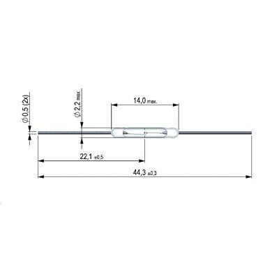 KSK1A66-1020 Reed-Kontakt 1xEIN 200V= 0,5A 10W AW10-20 von Meder