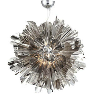 Striking 7-Light LED Curvaceous Metal Pendant – MUST SEE!!!