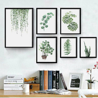 13*18cm Nordic Wall Hanging Plant Leaf Canvas Art Poster Print Wall Picture - Canvas Art Poster