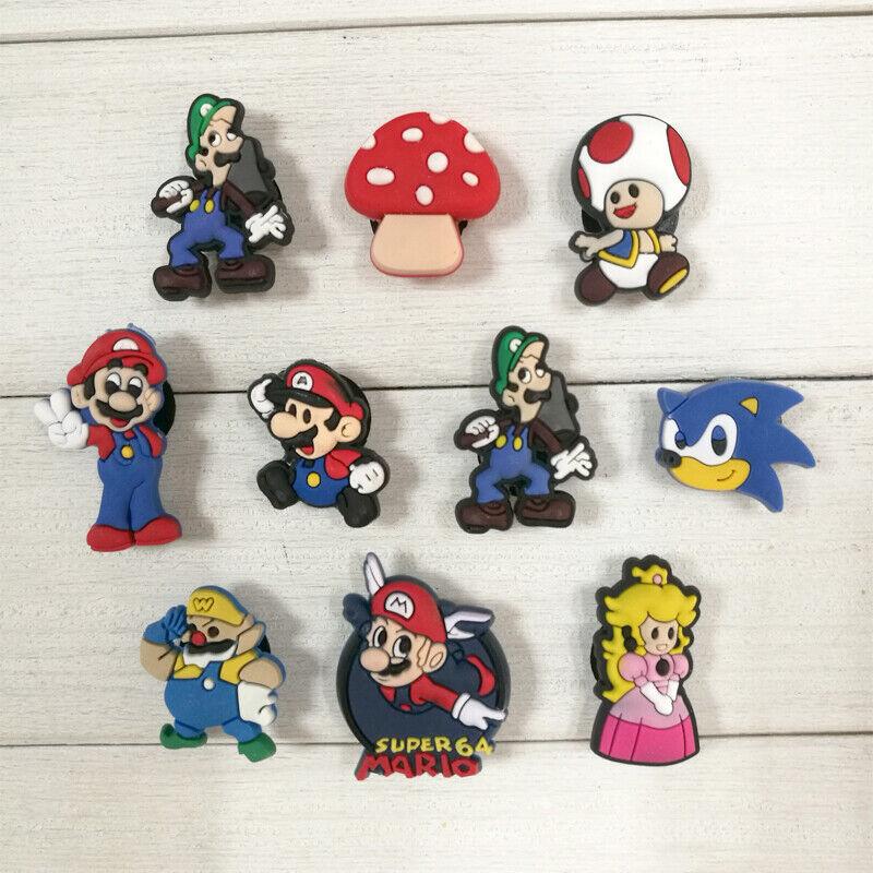 50pcs Super Mario Shoe Charms Accessories Buckles Fit for Shoes Bracelets Bands
