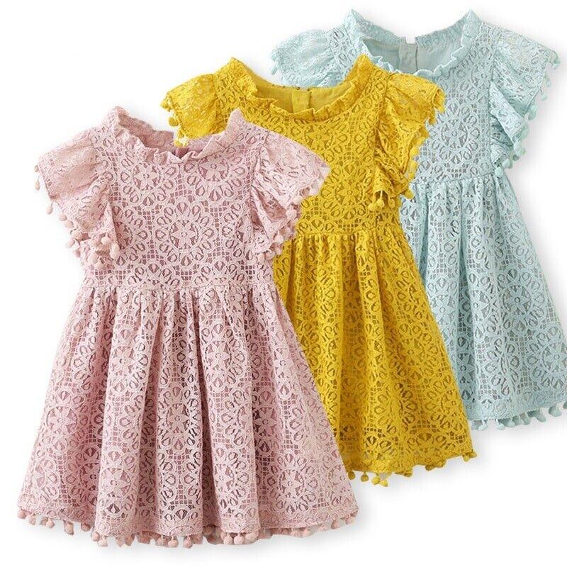 summer tassel baby girl clothing princess girls