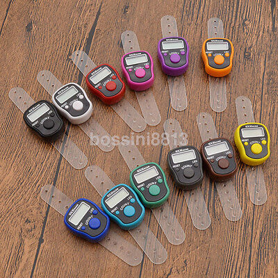 Mini Digital Lcd Led Electronic Digital Golf Finger Hand Ring Tally Row Counter