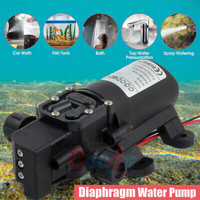 New Solid 130psi Dc 12v 1galmin Diaphragm Water Self Priming Pump High Pressure