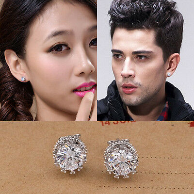 New Fashion Women Lady Elegant Crystal Rhinestone Ear Stud Earrings Gift Jewelry
