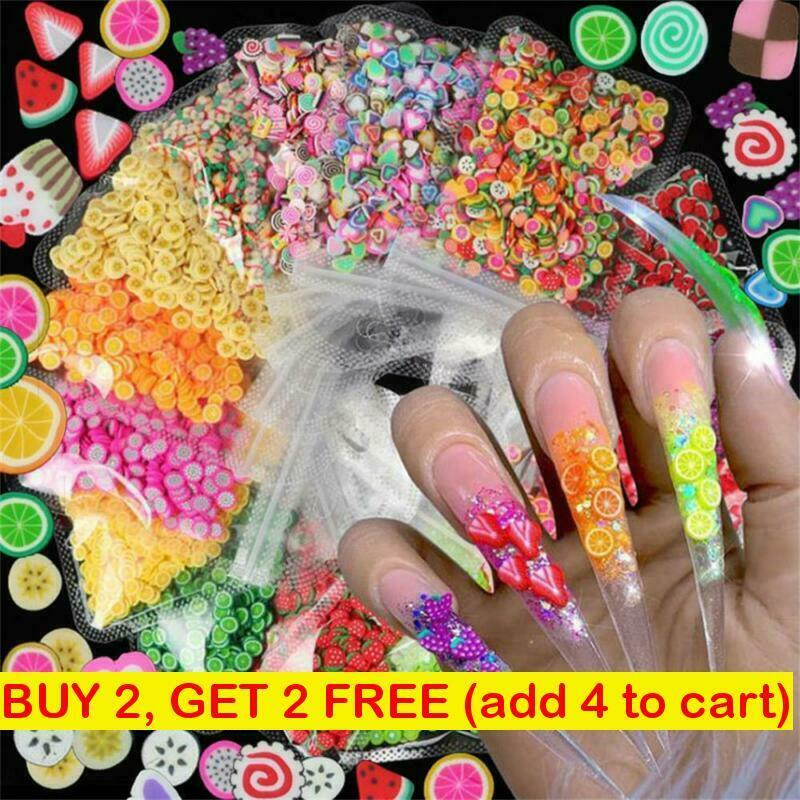 Art Decoration Polymer Clay Mixed Styles Nail Art Stickers 3