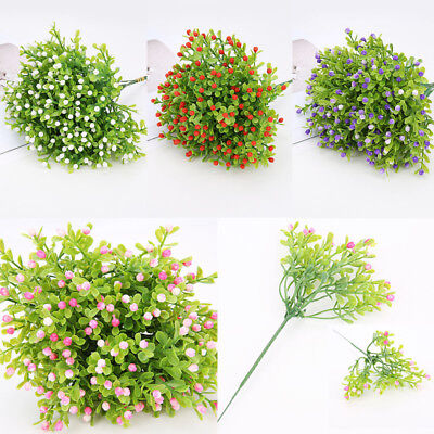 Fake Artificial Plant Plastic Mini Milan Flower Grass Office Home Decor - Decorative Grass