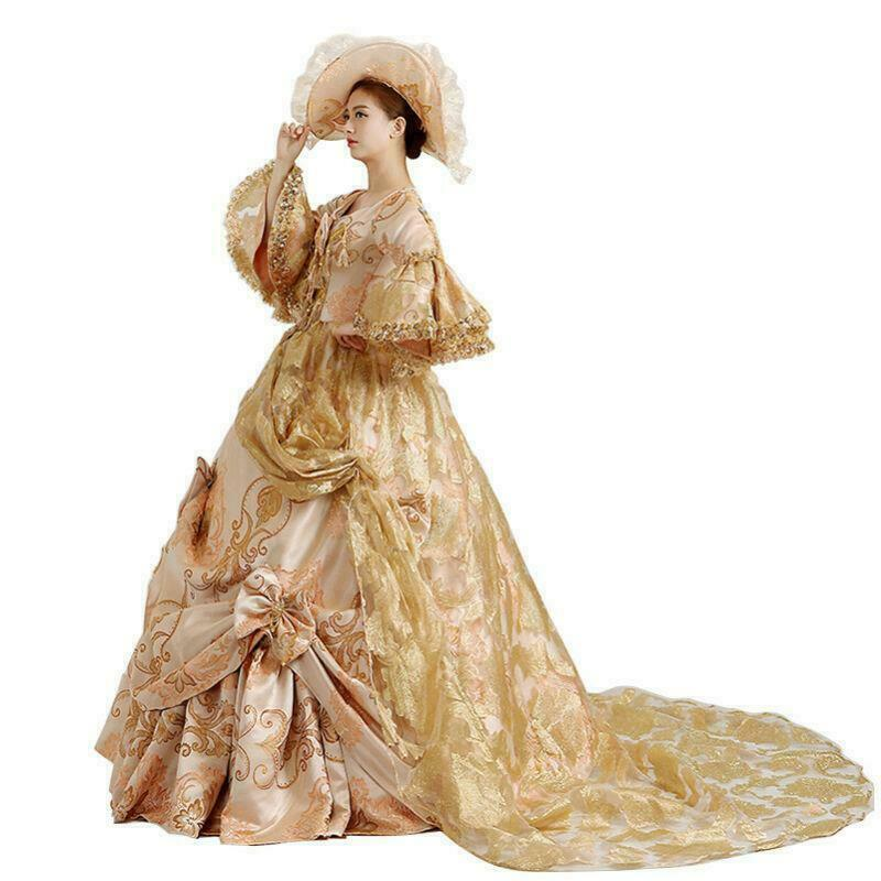 Victorian Medieval Renaissance Costume Dress Marie Antoinette Theater Gown New
