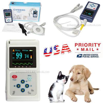 Usa Handheld Veterinary Pulse Oximeter Cms60d-vet Tongue Spo2 Probepc Software