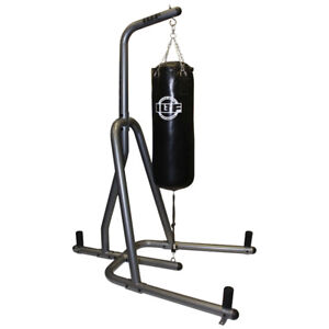 Iron Body Fitness 100 lb Heavy Bag Stand - Graphite/ Black