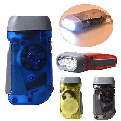 Novelty 3 LED Dynamo Wind Up Flashlight Hand-pressing Crank NR No Battery Torch - Novelty Flashlights