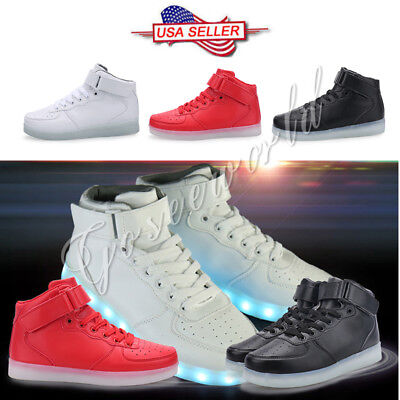 SAGUARO LED Light Shoes Lace Up Luminous Casual Sportswear Sneakers Unisex