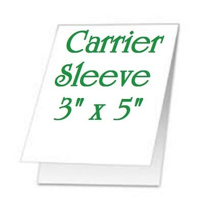 2 -pk Carrier Sleeves For Laminating Laminator Pouches 3-58 X 5-58 Coated