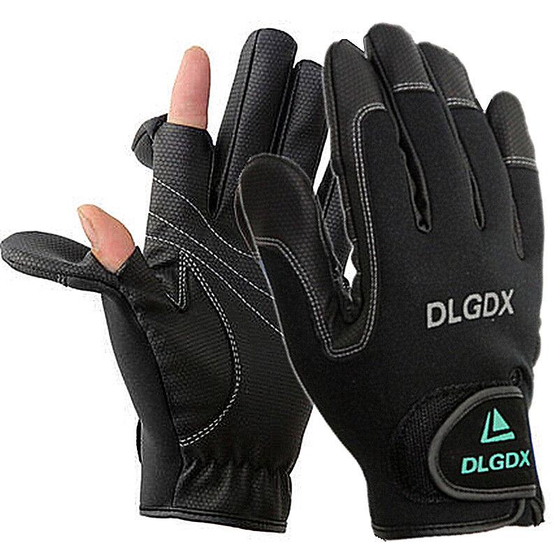 Fishing Gloves Full Finger 3 Fingerless Jigging Gear Waterproof Anti Slip