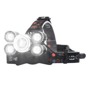 LED Headlamp, Acsin Super Bright 6000 Lumen 4 Modes Rechargeable