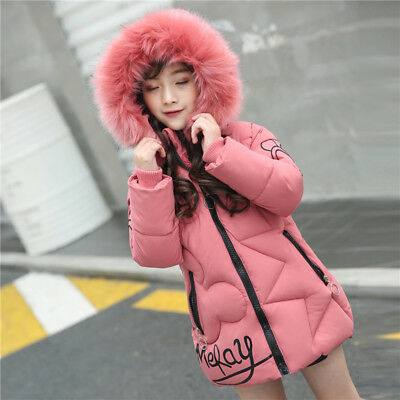 Kids Winter Coats Jacket for Girls Costume Thick Warm Hooded Cotton Outerwear](Outerwear For Girls)