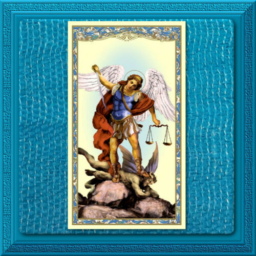Saint MICHAEL Archangel DEFEND US Protect Us Catholic Holy St. Prayer Card