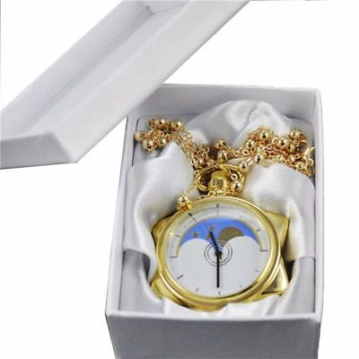 【USA Stock】Anime Sailor Moon 20th Anniversary Crystal Star Pocket Watch Necklace